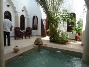 Foto del patio principal del riad Elias en Marrakech