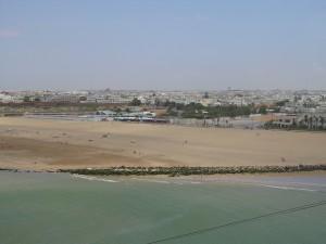 Vacaciones de verano en Marruecos. Rabat playa